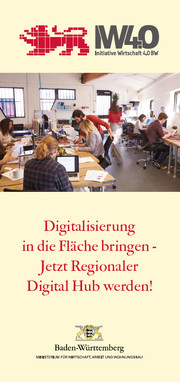 Titel des Faltblatts Digital Hubs