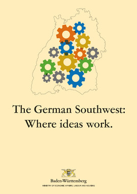 Titel der Broschüre The German Southwest: Where ideas work.