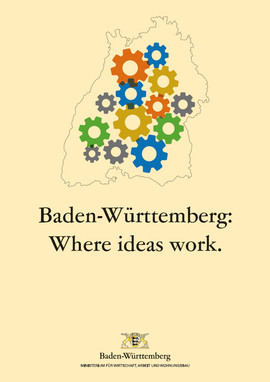 Titel der Broschüre Baden-Württemberg: Where ideas work