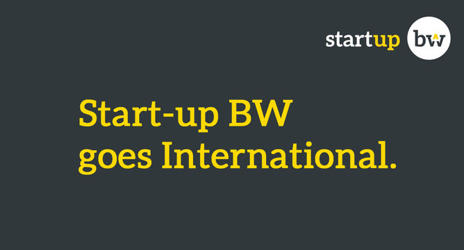 Neues Angebot Start Up Bw International Ministerium Für