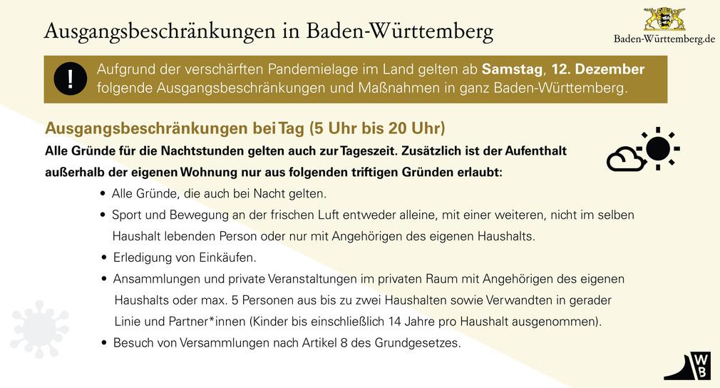 Ausgangsbeschränkungen Baden Württemberg